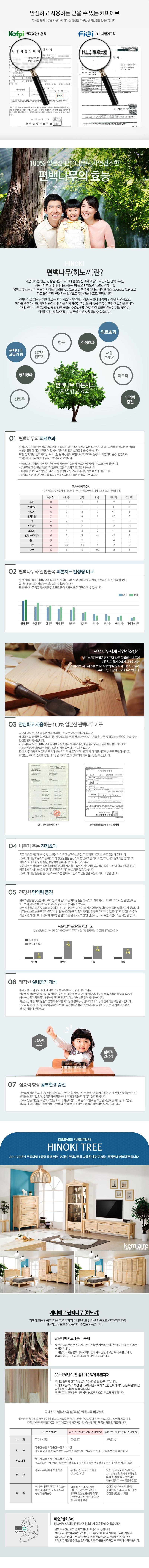 편백나무 와이드체스트 KMD-204 - 케미에르, 739,000원, 서랍장, 와이드 서랍장